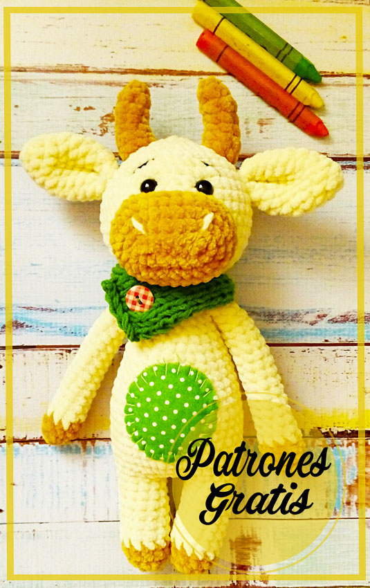 patrón libre de crochet amigurumi de toro
