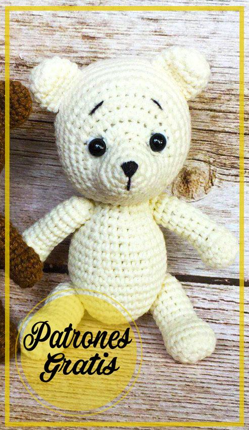Pequeño oso blanco Amigurumi Patrón Gratis