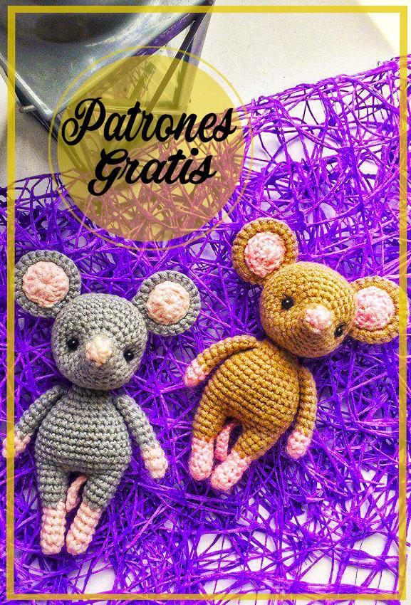 Ratones lindos amigurumi Patrón gratis