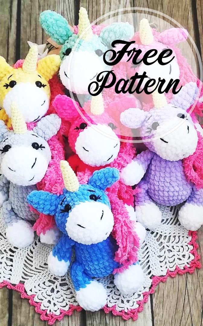 PATRONES GRATIS DE CROCHET: AMIGURUMI UNICORNIO a crochet ... | 1080x672