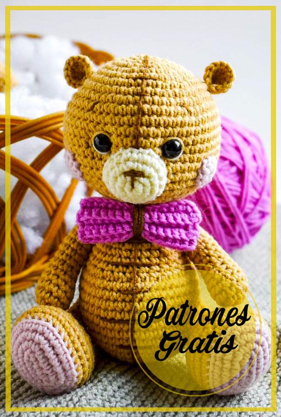Pequeño oso de peluche Crochet Amigurumi patrón gratis