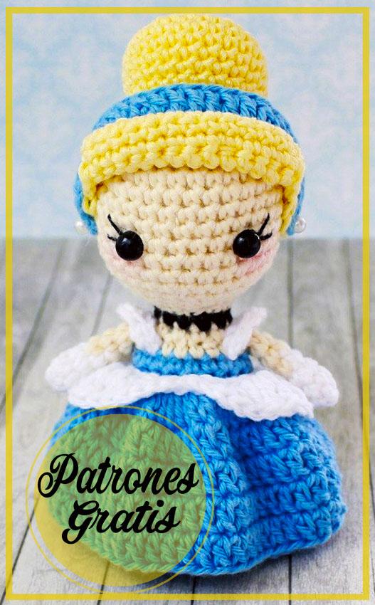 Princesa Cenicienta Amigurumi Patrón Gratis