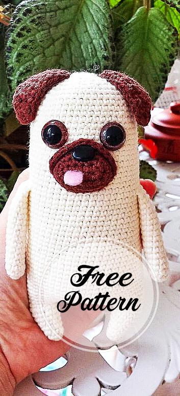 DIY Amigurumi Pug Amigurumi Recipe – Amigurumi Crochet Dog Chart ... | 774x353