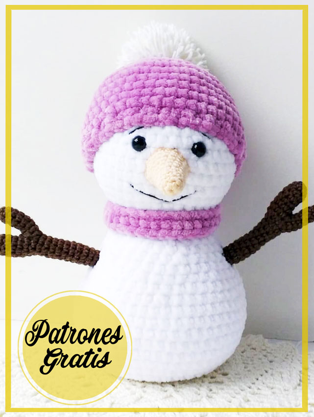 Muñeco de Nieve Fácil Amigurumi Patrón Gratis