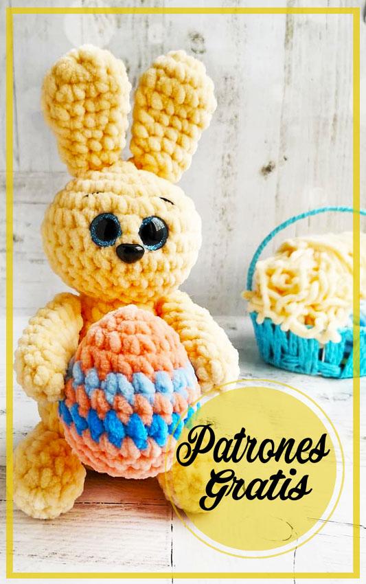 Conejo de Pascua Amigurumi patrón gratis