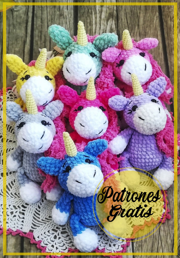Unicornios lindos amigurumi patrón gratis