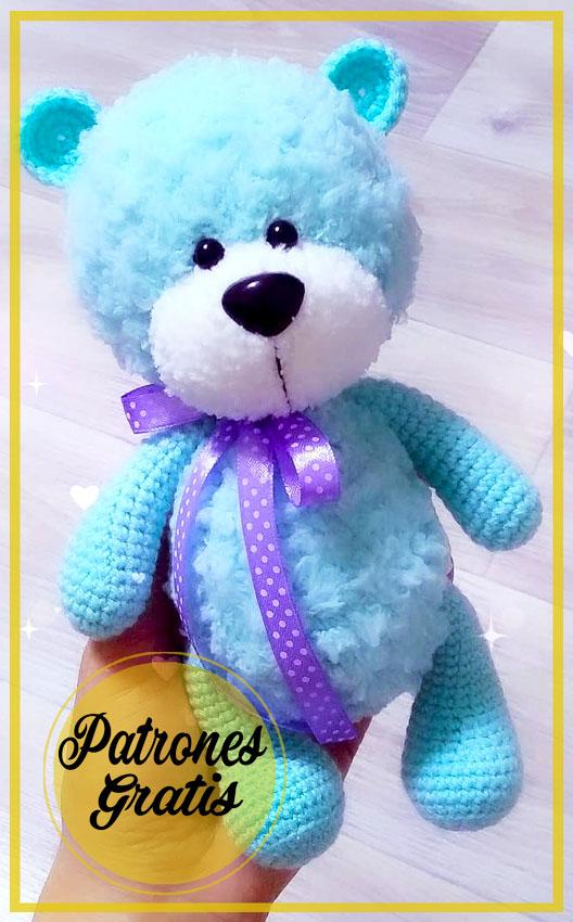 Oso de felpa azul Amigurumi Patrón Gratis