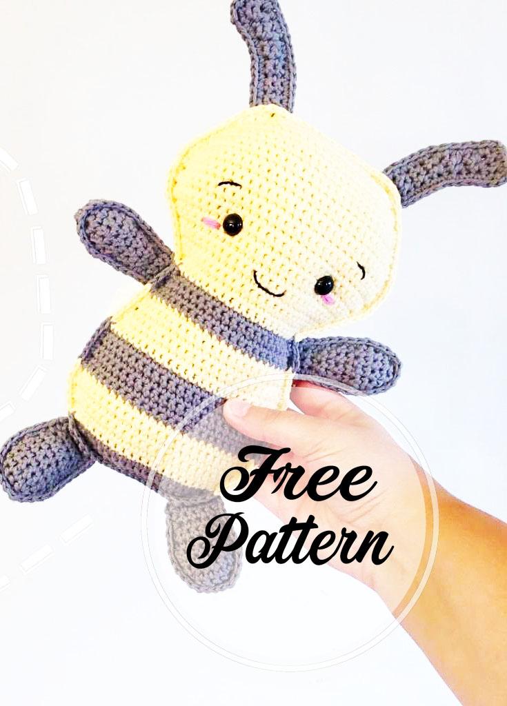 Abeja burbuja amigurumi patrón gratis