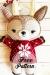 Reno de Navidad rojo Amigurumi Patrón Gratis