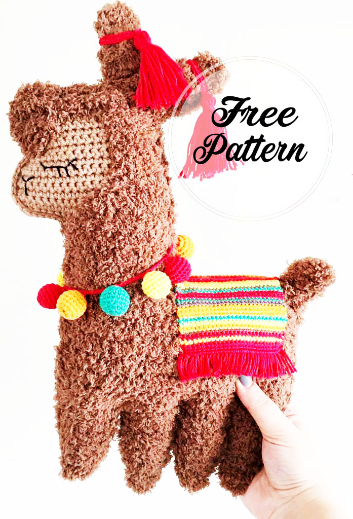Ragdoll Llama Amigurumi Patrón Gratis