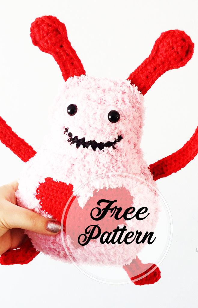Amor Monstruo Amigurumi Patrón gratis