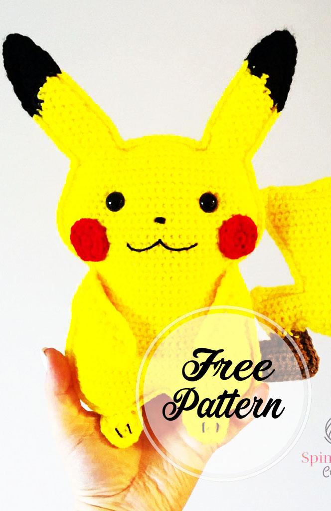 Pikachu Amigurumi Patrón Gratis