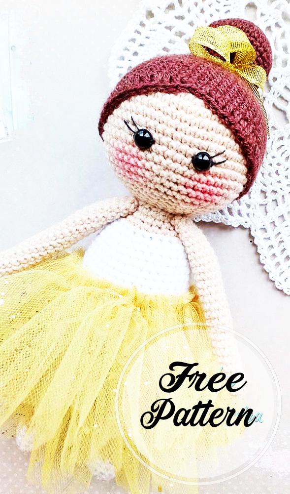 Muñeca de bailarina amigurumi patrón gratis