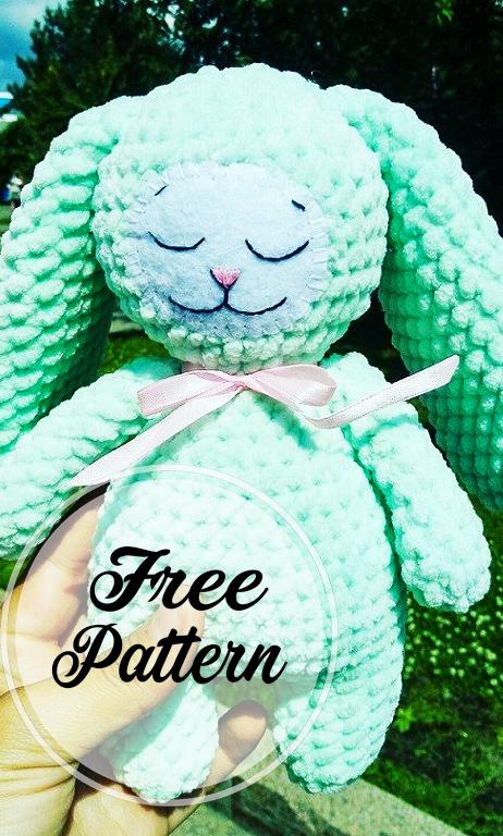Conejito de peluche amigurumi crochet gratis
