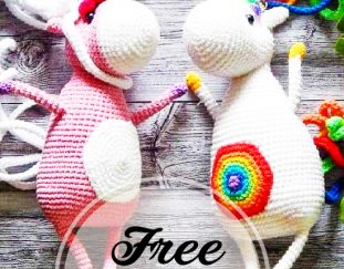 Kawaii unicorn keychain, Amigurumi keychain animal, Crochet ... | 243x311