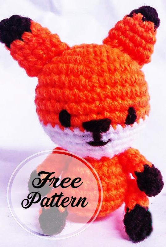 Pequeño zorro amigurumi crochet patrón gratis