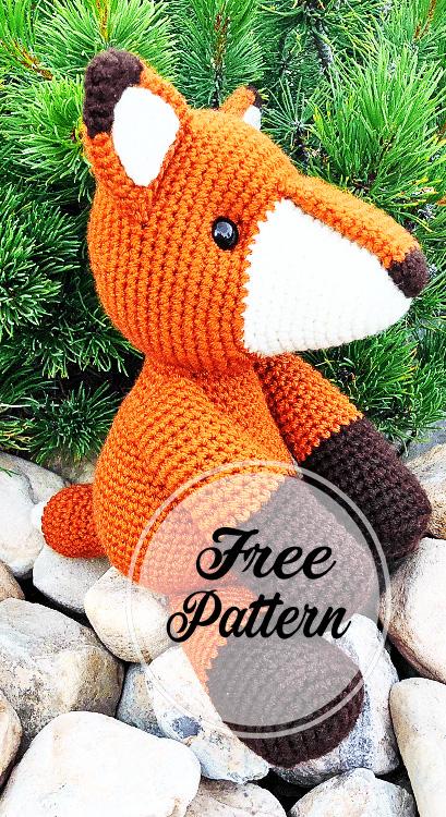 Fredric el patrón Amigurumi libre de zorro