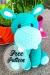 Azul Hipopótamo Amigurumi Patrón Gratis
