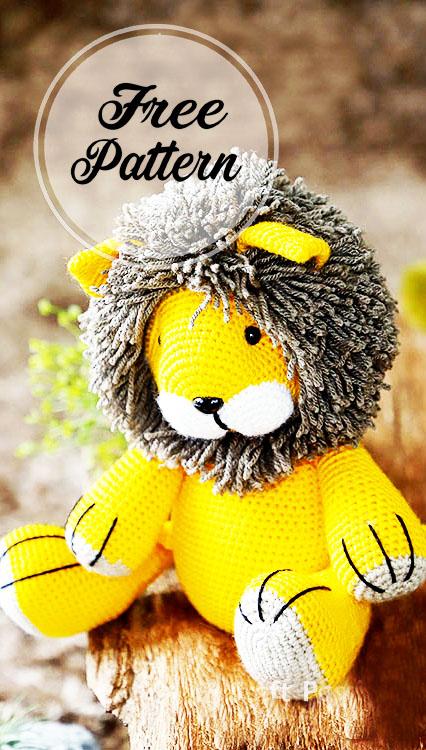 León amigurumi patrón Gratis
