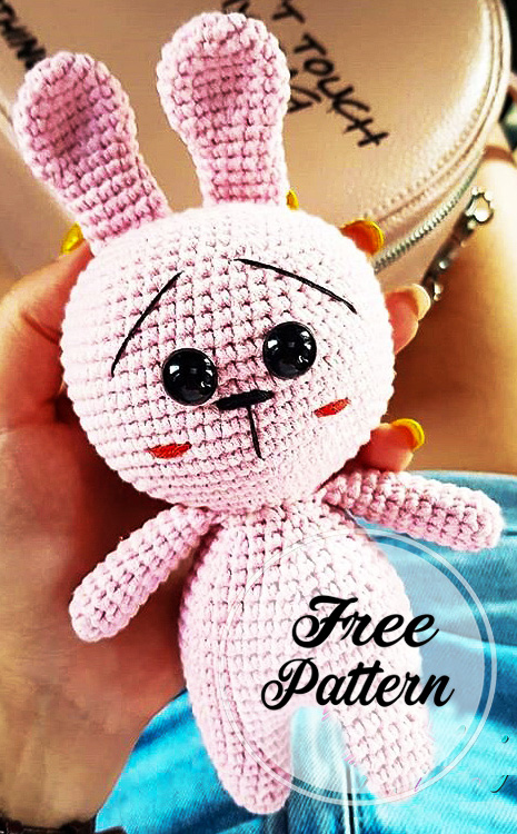 Crochet lindo Conejito Amigurumi patrón gratis