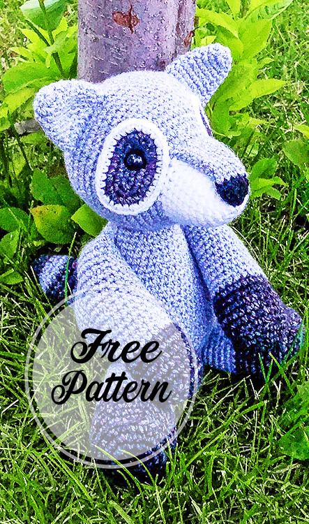 Rita el mapache amigurumi patrón gratis