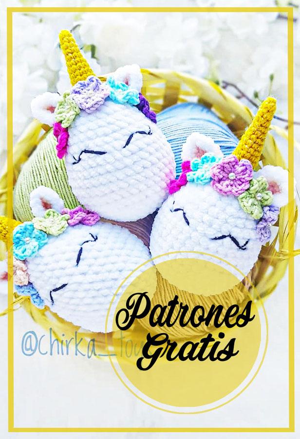 Unicornio Huevo de Pascua Amigurumi Patrón Gratis