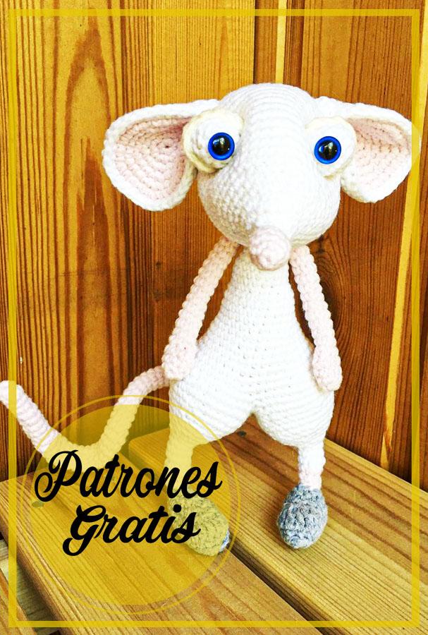 Rolly Ratón Amigurumi Patrón Gratis
