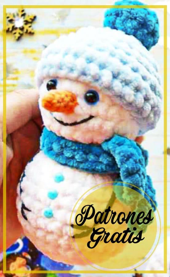 Monigote de nieve Amigurumi Patrón Gratis