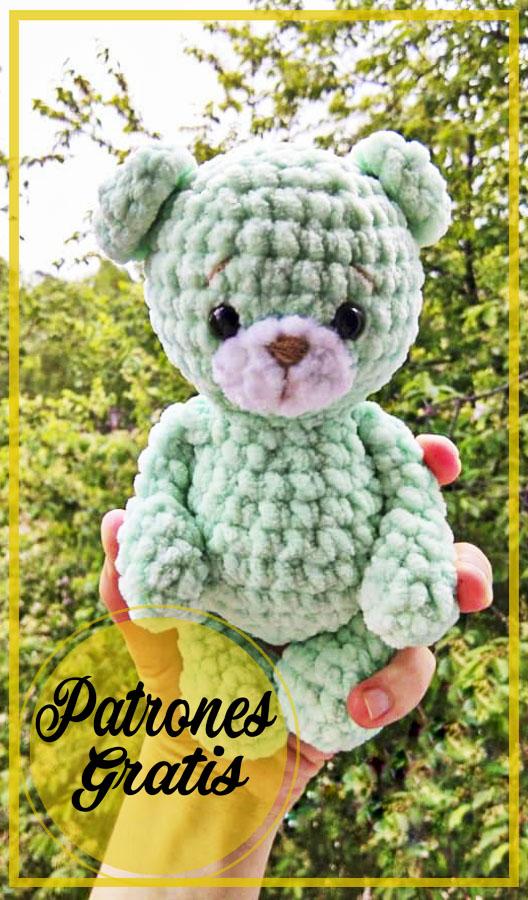 Amigurumi Crochet Felpa Oso Patrón Gratis
