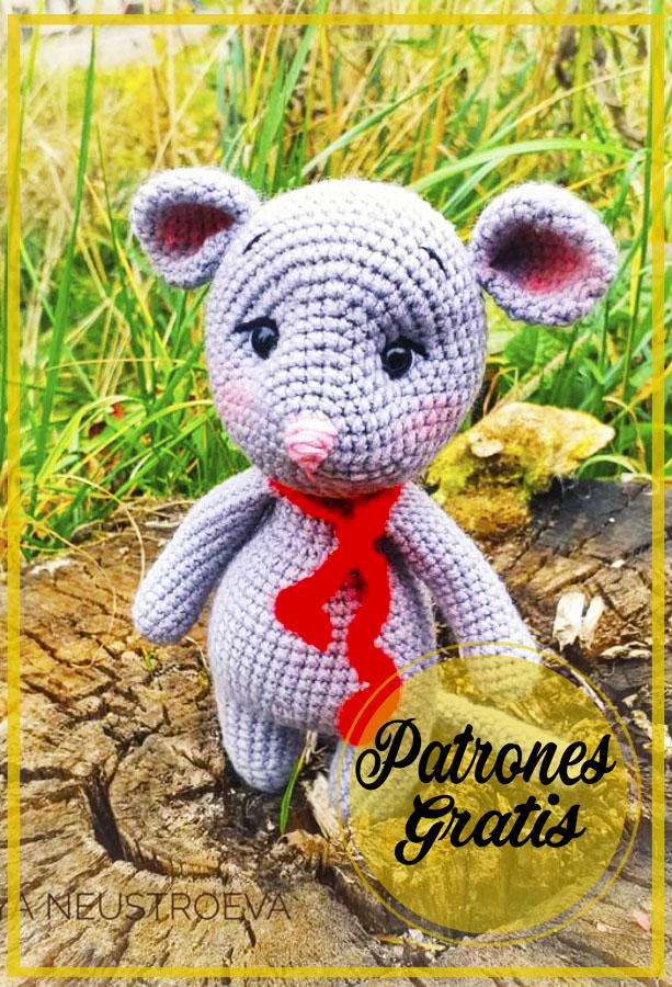 Precioso Ratón Amigurumi Patrón de ganchillo gratis