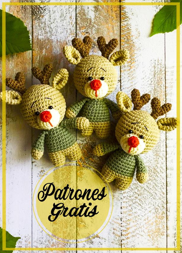 Ciervo Navidad Amigurumi patrón gratis