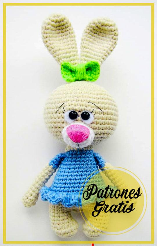 Encantador Conejo Amigurumi patrones ganchillo gratis