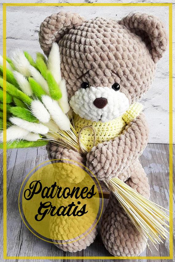 Hermosos oso de peluche Patrón  Amigurumi Gratis