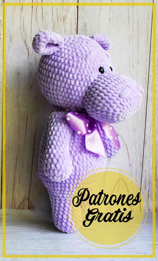 Felpa hipopótamo Amigurumi Patrones Gratis