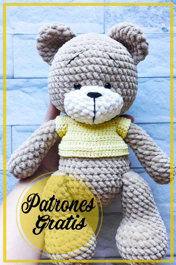 Lindo oso de peluche grande Amigurumi Patrón Gratis