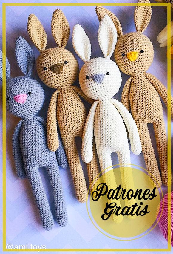 Alto Conejito amigurumi crochet patrón Gratis