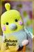 Pájaro amarillo gordo Amigurumi patrón gratis