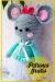 Ratón con vestido azul amigurumi patrón gratis