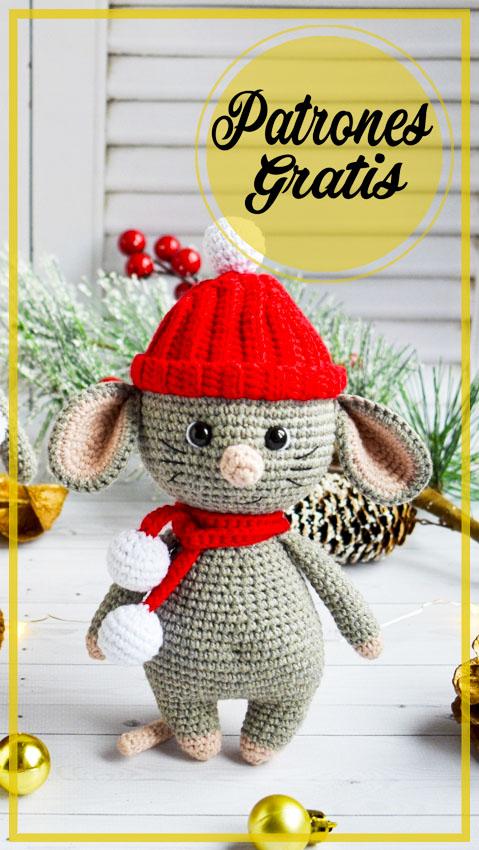 Ratón con sombrero Amigurumi Patrón Gratis