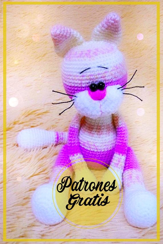 Colorido gato murzik Amigurumi patrón gratis
