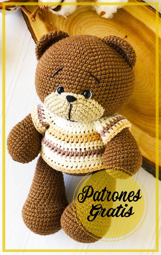 Impresionante oso de peluche amigurumi patrón gratis