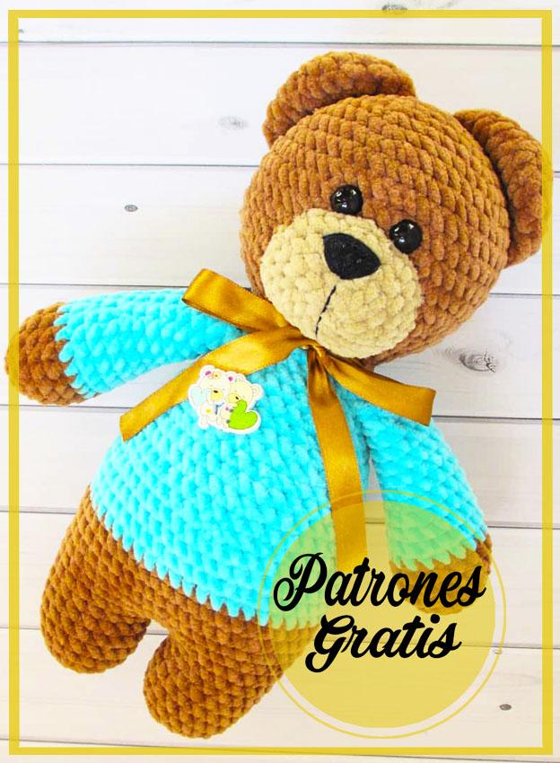 Oso de peluche en pijama amigurumi patrón gratis