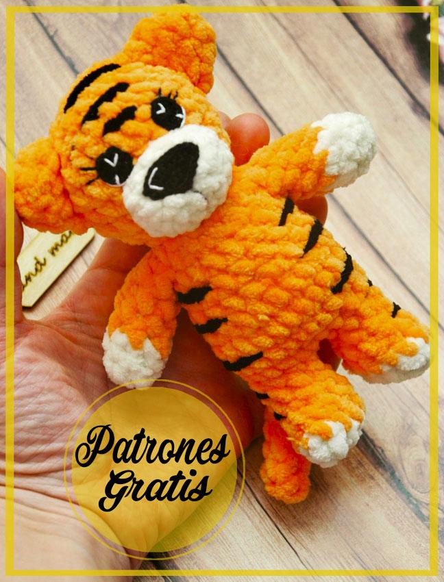Pequeño Tigre bonito Amigurumi Patrón Gratis