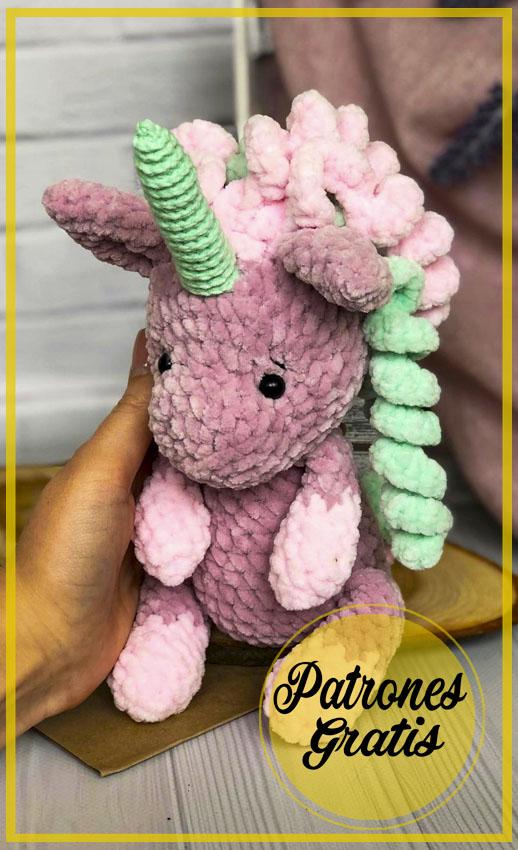 Unicornio de felpa Amigurumi Patrón Gratis