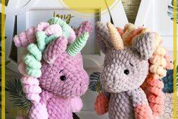 Poco Arcoiris Unicornio Amigurumi Patrón gratis