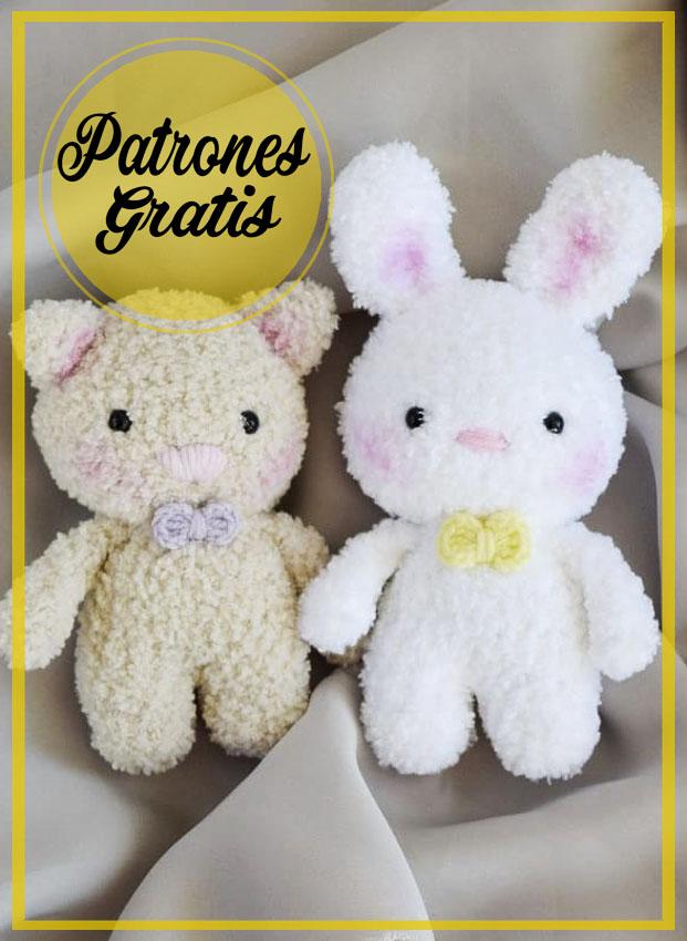 Conejo blanco suave Amigurumi Patrón Gratis
