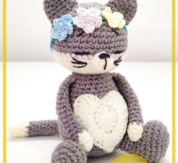 Gato amoroso Amigurumi Patrón Gratis