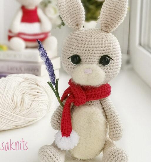 Conejo lindo blanco Amigurumi Patrón Gratis