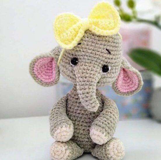 Elefante Lindo Amigurumi Patrón Gratis