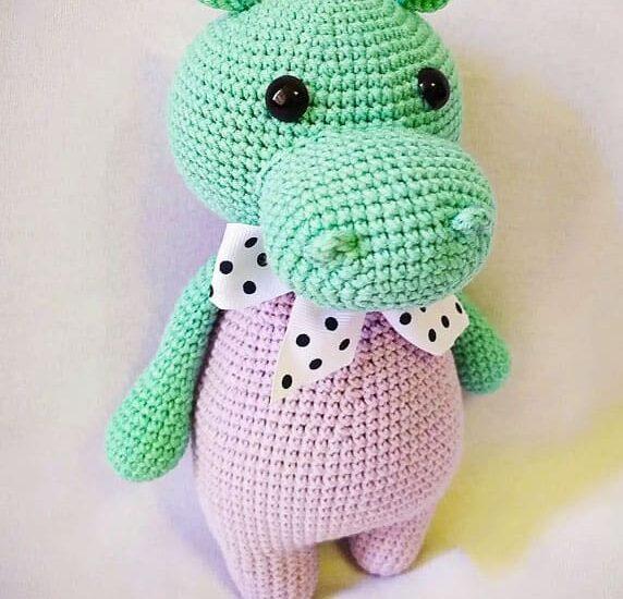Hipopótamo Gosh Amigurumi Patrón Gratis